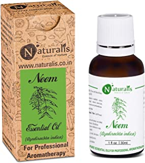 Naturalis Essence of Nature Neem Oil 100% Undiluted Pure and Natural Therapeutic grade for Hair Growth and Skin Care - 30ml