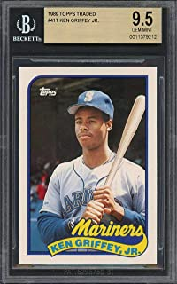 1989 topps traded #41t KEN GRIFFEY JR seattle mariners rookie card BGS 9.5 Graded Card