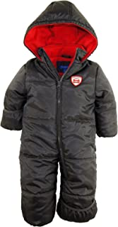 Baby Boys' One-Piece Puffer Winter Snowsuit with Hood (Newborn & Infant)
