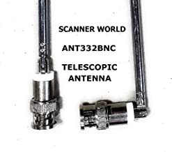 Telescopic BNC Male Swivel Antenna with Metal Connector for Base OR Hand Portable Radio..