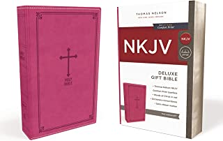 NKJV, Deluxe Gift Bible, Leathersoft, Pink, Red Letter Edition, Comfort Print: Holy Bible, New King James Version
