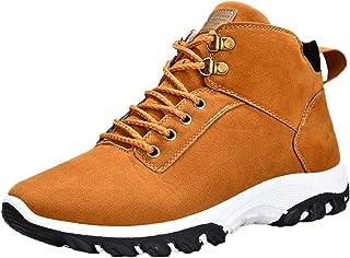 LangfengEU Bottes pour Hommes Mode en Peluche à l'intérieur de l'hiver Garder au Chaud Chaussures Bottes de Neige Solides ...