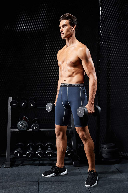 HOFISH Mens Outdoor Sports Active Compression Shorts