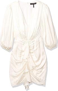 Women's Satin Ruched Mini Dress