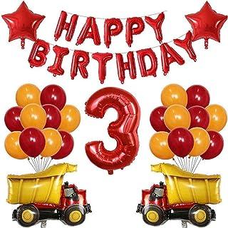 バルーン 38ピース鉄道バルーン消防車アンフェランススクールバス交通機関エンジニアリング車の焼肉誕生日パーティーの装飾 最善の選択 (Color : 03)