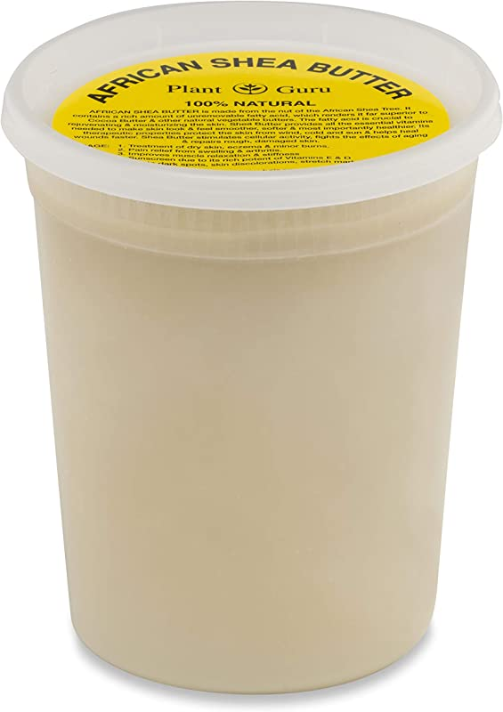 Raw African Shea Butter 32 Oz Bulk Unrefined Grade A 100 Pure Natural Ivory White From Ghana DIY Crafts Body Butters Lotion Cream Lip Balm Soap Making Eczema Psoriasis And Aid Stretch Marks