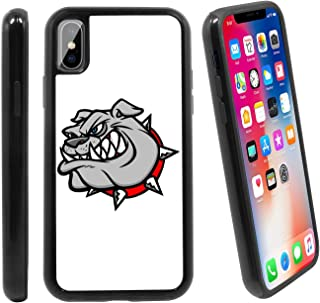 [Angry Bulldog Mascot] for Apple iPhone X/iPhone 1 (2017), Hybrid Heavy Duty Armor Shockproof Silicone Cover Rugged case