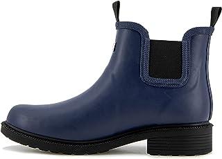 JBU by Jambu Women's Chelsea RAIN Boot Waterproof Ankle, Navy, 7.5