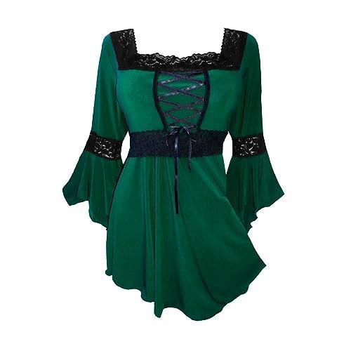 d159988c28 Dare to Wear Victorian Gothic Peasant Women s Plus Size Renaissance Corset  Top