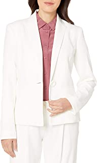 kasper one button crepe jacket