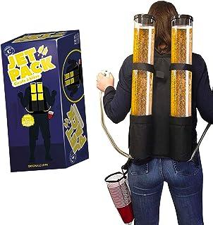 Double Girafe à Bière Jet Pack | Distributeur Boisson | Sac à Dos | Qualité Premium | 2 Réservoirs | 2 x 3L de Boisson | 2...