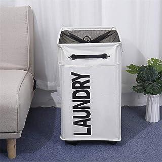Lshbwsoif Panier à linge rectangulaire pliable, panier de rangement pour vêtements, jouets, panier à linge pour chambre, b...
