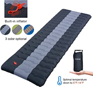 YSXHW Self Inflating Camping Pads Thick 4.7 Inch Lightweight Camping Sleeping Pad Ultralight,Compact, Waterproof PVC Inflatable Mat for Tent, Hiking and Backpacking