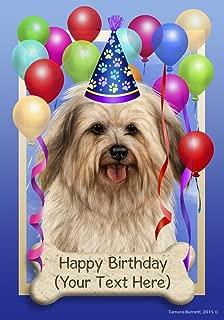 Best of Breed Havanese Cream - Tamara Burnett Custom Happy Birthday House Flag