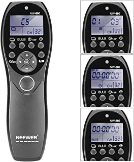 Neewer LCD Display Shutter Release Wired Timer Remote Control NW-880/N3 for Canon EOS 7D, 5D Series, 1D 6D 50D 40D 30D 20D 10D Cameras