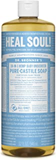 Dr. Bronner's - Pure-Castile Liquid Soap (Baby Unscented, 32 Ounce) - Made with Organic Oils, 18-in-1 Uses: Face, Hair, La...
