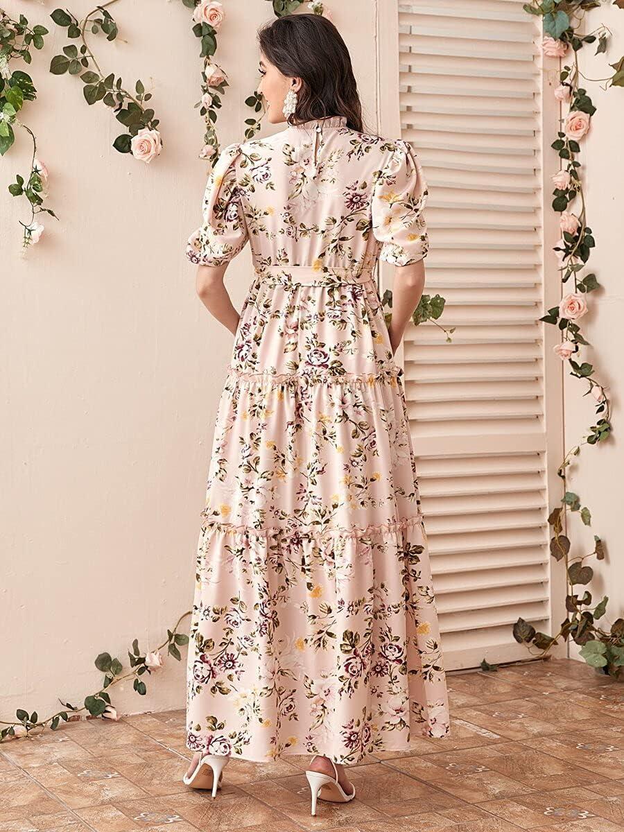 Shreem85 Maternity Dress Attention brand Puff Layered Sleeve Tri Frill Max 61% OFF