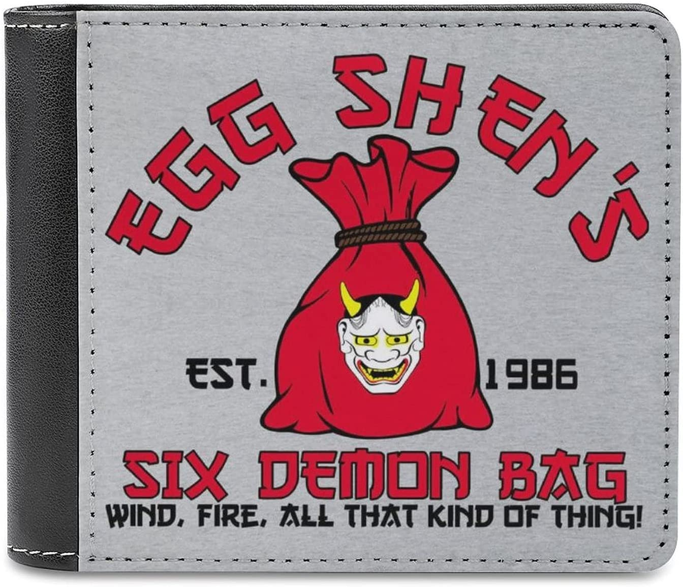 Egg Shens Six Demon Bag Big Trouble In Little China Leather bi-fold wallet, large-capacity credit card holder, comfortable and delicate touch