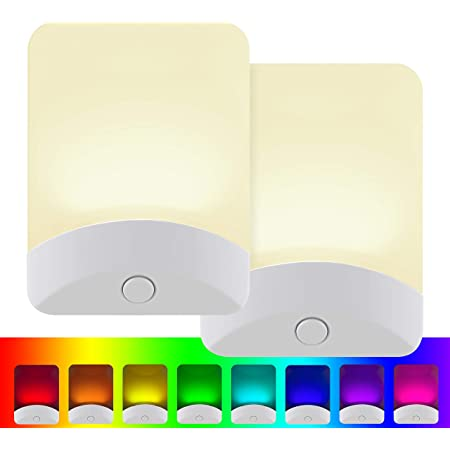 3000K for Kitchen 2 Pack LED Night Light Bright White Nu Home Office Bedroom