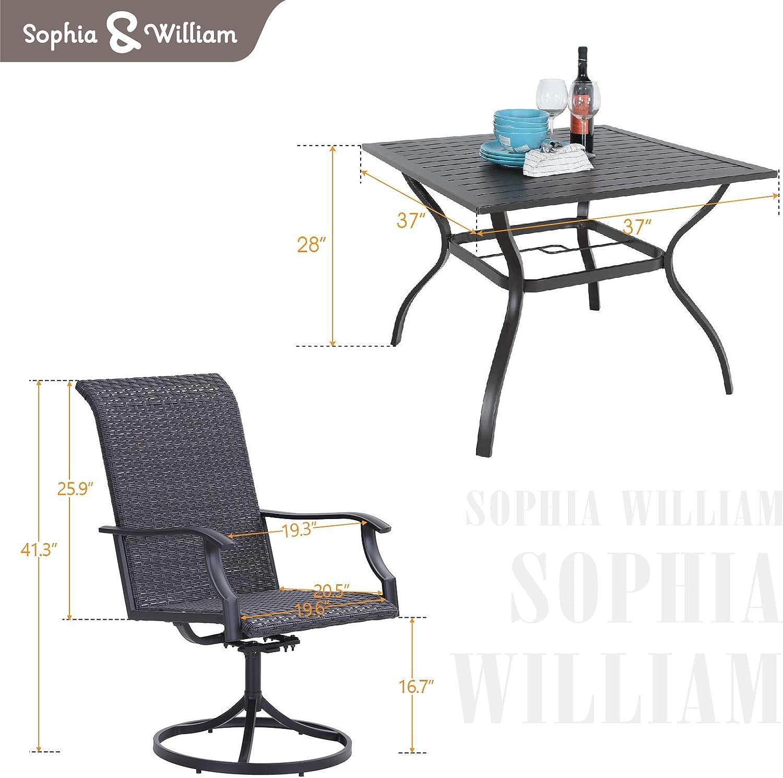 Buy Sophia & William Patio Dining Set 10 Pieces Metal Furniture Set ...