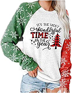 HEFASDM Womens Tshirt Letters Printed Fall Winter Long-Sleeve Tees Top