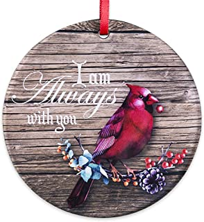 """Best FaCraft Christmas Holiday Keepsake Ornaments Double-Sided I AM Always with You,3.5"""" Memorial Christmas Ornaments,Cardinal Christmas Tree Decorations Review"""