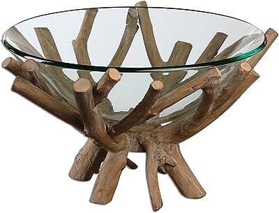 Amazon.com: decmode tazón de vidrio ovalada con base de ...