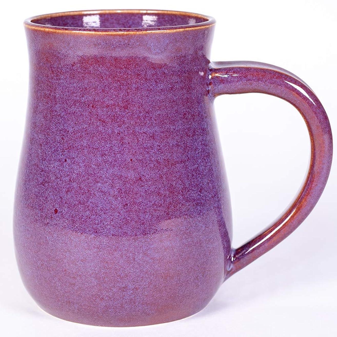 Purple/Maroon handmade pottery mug