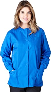 Natural Uniforms Women's Warm Up Jacket Medical Scrub Jacket (XS to 5XL) (Large, True Royal Blue)