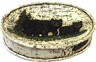 Black Bear on Birch Tree Bathroom Accessories (Soap Dish)
