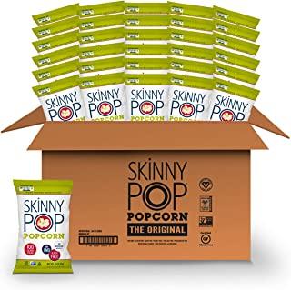 SkinnyPop Original Popped Popcorn, 100 Calorie Individual Bags, Gluten-free Popcorn,Non-GMO Vegan Snack, 0.65 Oz (Pack Of...