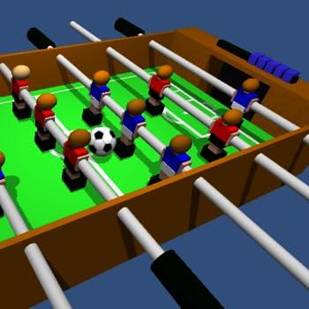Table Football Soccer Foosball 3D