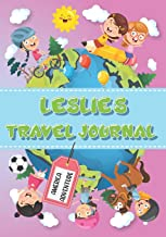 Leslie's Travel Journal: Personalised Awesome Activities Book for USA Adventures