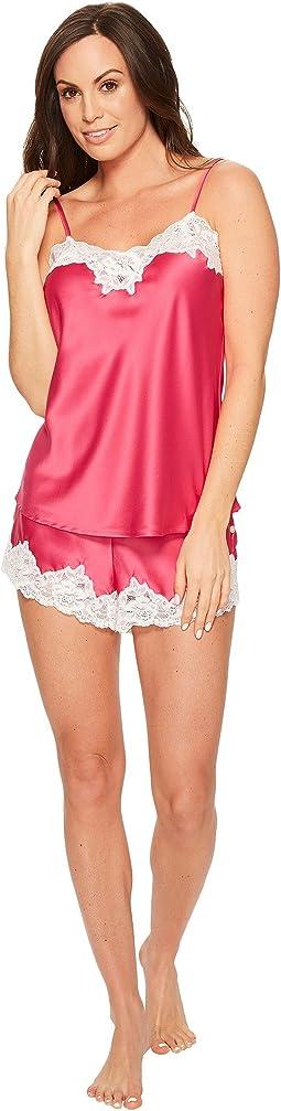 LAUREN Ralph Lauren - Satin Lace Cami Tap Pajama Set
