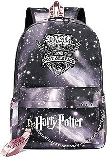 Mochila de Ocio para Estudiantes de Hogwarts, Mochila Harry Potter Grey Starry Sky, con Mochila de Interfaz de Carga USB style-12