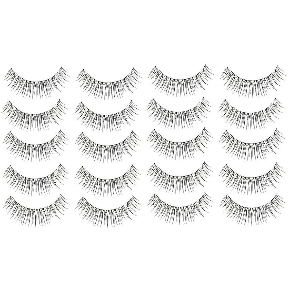 一族バーマド移住する美容アクセサリー 10組216クロスクリスタル透明なステムナチュラルメイクアップラッシュチャーミングなロングシックブラックスティック 写真美容アクセサリー