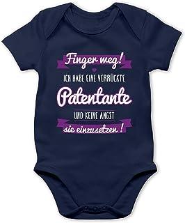 Shirtracer Ich habe eine verrückte Patentante lila - Baby Body Kurzarm für Jungen und Mädchen