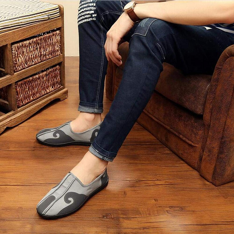 ZHANG22 Flache streuen Schuhe Tuch Schuhe mnnlichen Melaleuca unteren Schuhe Rindernase atmungsaktiv niedrig, um ethnische Schuhe Besteickte Schuhe Kung Fu Schuhe Martial Arts helfen, 44