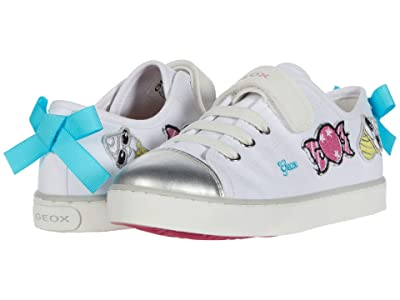 Geox Kids Ciak 72 (Little Kid/Big Kid) (White) Girl