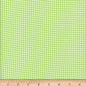 Mook Fabrics Flannel Gingham Green Fabric Fabric by the Yard