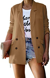 Sponsored Ad - kenoce Womens Casual Basic Work Office Blazer Elegant Long Sleeve Open Front Cardigan Jacket