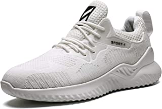 Wrezatro Mens Comfortable Breathable Sport Volleyball Shoes Light Jogging Sneakers Athletic Gym Running Shoe for Men