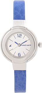 Fastrack Women's Fashion-Casual Analog Watch-Quartz Mineral Dial - Leather Strap