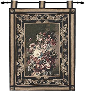 Manual Woodworkers & Weavers MASTERPIECE FLORAL GRAND Flowers Fabric Large Tapestry Wall Hanging