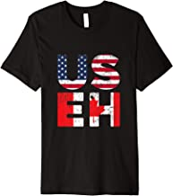 USA Pride US Flag Canada Day USEH Canadian Premium T-Shirt