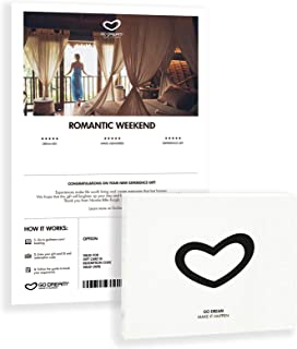 Romantic Weekend - Travel Package for 2 - Experience Gift Card NYC - GO DREAM - Sent in a Gift Package
