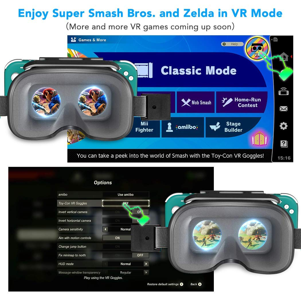 VR Labo para Nintendo Switch Lite, OIVO VR Headset 3D VR (realidad ...