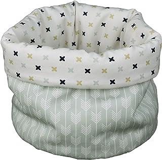 Tina Codazzo Home Baby Cestino porta prodotti accessori bebè bianco e verde