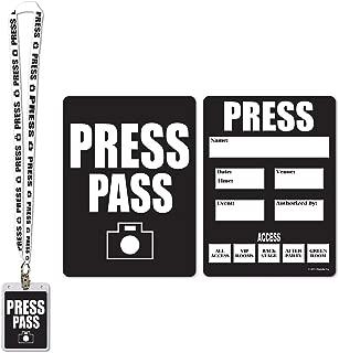 press pass cards