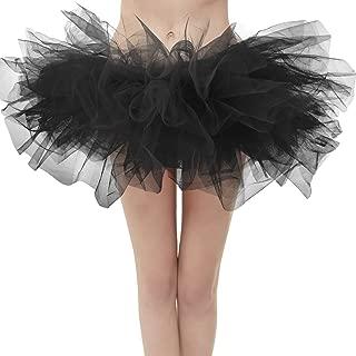 Women's Vintage 5 Layered Tulle Tutu Puffy Ballet Bubble Skirt